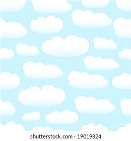 vector background seamless pastel clouds