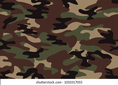 vector background of seamless soldier woodland green camo pattern