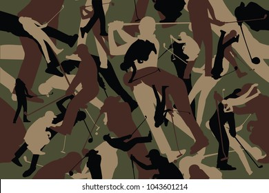 vector background of seamless soldier woodland gray golf camo pattern