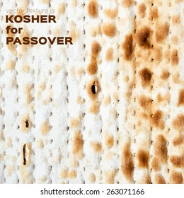 vector background sheet of matzo bread for the Jewish celebration of Passover, kosher for the Passover