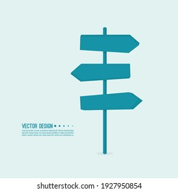 Vector background with signpost arrows to the right and left. Choice of direction.