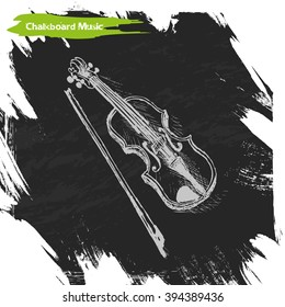 Vector background sketch Violin Violin sketch illustration