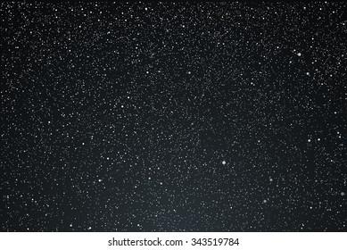 Vector background. Starry dark night sky. Stars, sky, night.