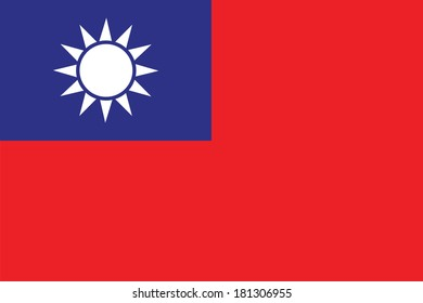 vector background of taiwan flag