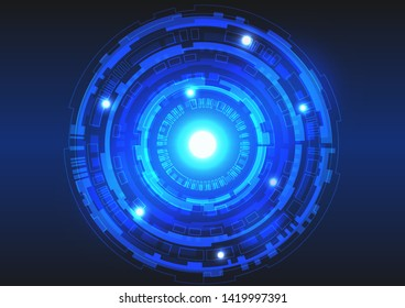 Vector Background of Technology Circles for Digital Technology Concept