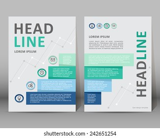 Vector background template. Modern brochure design/layout for magazine, brochure, flyer, cover in A4 size.