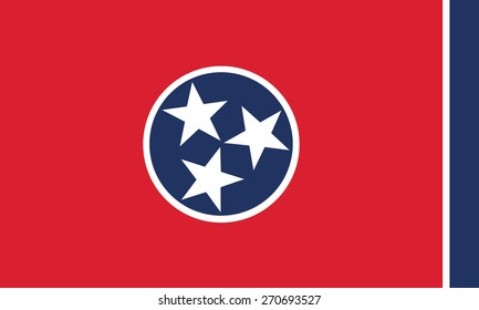 vector background of tennessee state flag