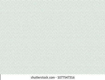 Vector background - texture - green pattern from rhombi. Thin line. Use for certificate, voucher, banknote, voucher, money design, currency, note, check, ticket, reward etc. Eps 10.
