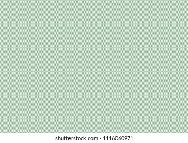 Vector background - texture - green zig zag. For certificate, voucher, banknote, voucher, money design, currency, note, check, ticket, reward etc. Eps 10.