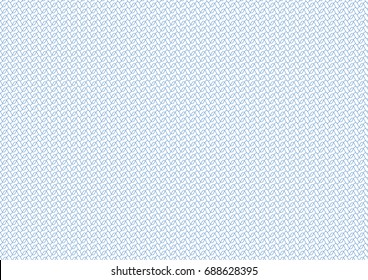 Vector background -  texture with waves - blue pattern. For certificate, voucher, banknote, money design, currency, note, check, ticket, reward. Eps 10.