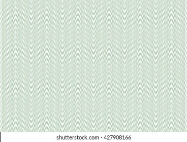 Vector background - texture with waves - green pattern. For certificate, voucher, banknote, money design, currency, note, check, ticket, reward. Eps 10.