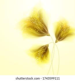 Vector Hintergrund mit Baumblumen