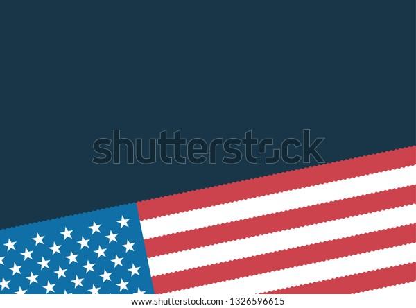 Vector Background Wallpaper National Flag Usa Stock Vector