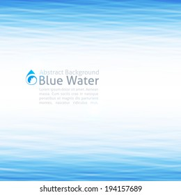 vector background with water surface and drop icon