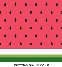 Vector background of watermelon slices in the simple abstract style. Fresh summer fruit background. Vector illustration.