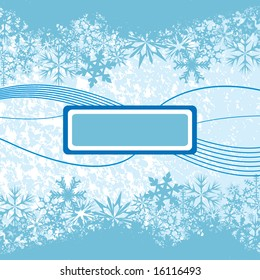 Vector background with winter theme. Add your own logo or text