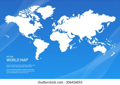 Vector background with world map