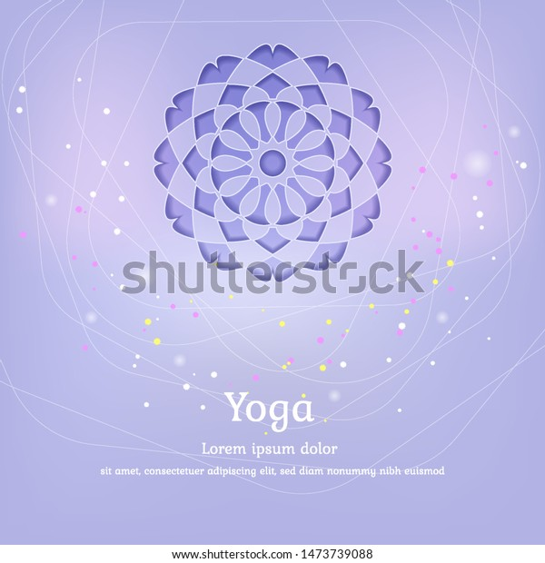 Vector Background Yoga Design Packaging Posters Stock Vector Royalty Free 1473739088