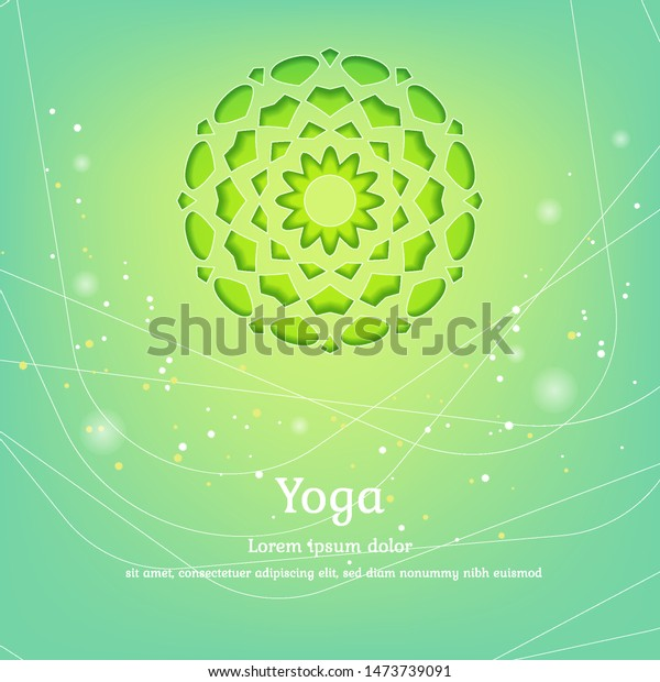 Vector Background Yoga Design Packaging Posters Stock Vector Royalty Free 1473739091