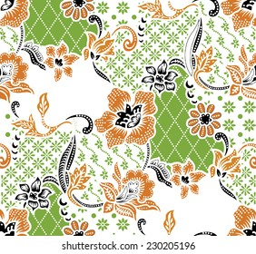 Vector background.Batik design.