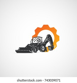 Vector Backhoe tractor and gear, buildings equipment.