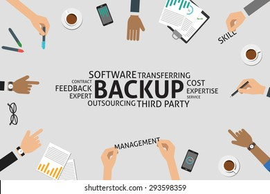 vector backup concept,template