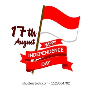 Vector badge Indonesia independence day