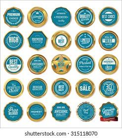 Vector Badges of Golden Set