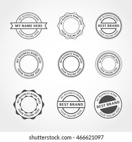 Vector Badges Stickers and Stamps
