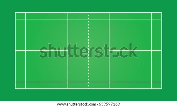 Vector of badminton court.