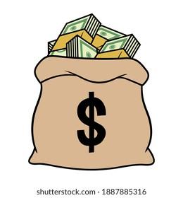 Vektorbeutel der Geldausgabe
