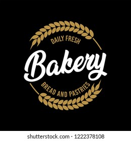 Vector Bakery Pastry Elements and Bread Icons Illustration can be used as Logo or Icon in premium quality. Bakery Label Design.