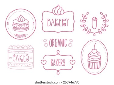 Vector Bakery Shop Logo Template set
