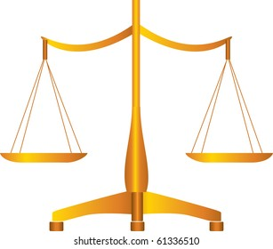 Vector of balance scales