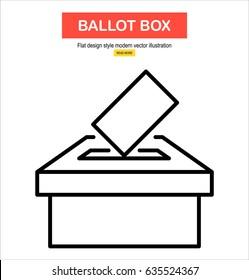Vector ballot box icon. Voting, election concept.