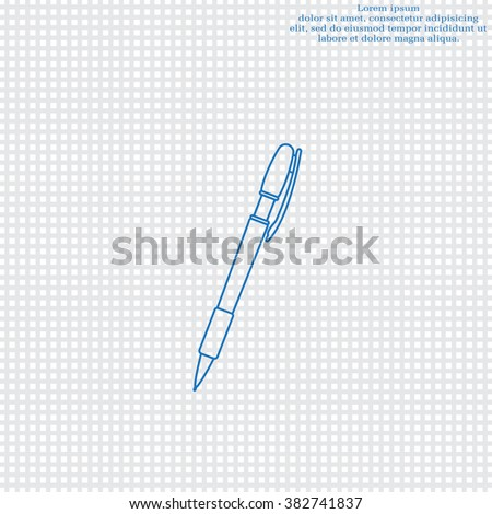 Superb Vector Ballpoint Pen Line Icon Stock Vector Royalty Free 382741837 Wiring Digital Resources Minagakbiperorg