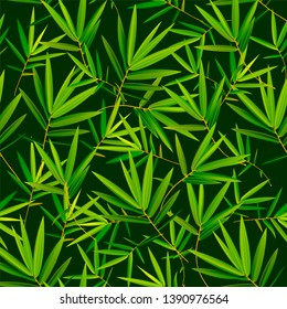 Vector bamboo seamless pattern can be used for wallpaper, website background, textile printing