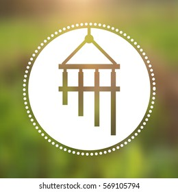 Vector Bamboo Wind Chime Illustration on a Natural Background