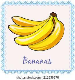 Vector bananas. A bunch of bananas