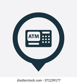 Vector bank atm Icon.