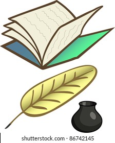 A vector bank for a poet.All objects are separated, the can be scaled or recolored without problems and quality loss.