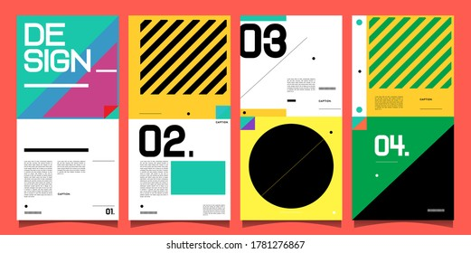 Vector banner background and social media post design template