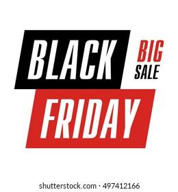 Vector banner Black Friday. Big sale.