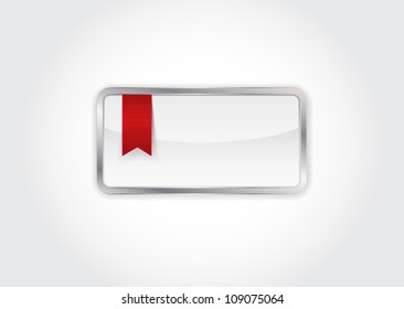 Vector banner / box with red ribbon