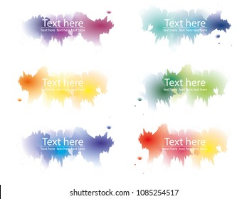 vector banner colorful water color splach and copy space