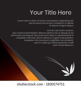 Vector banner design, black color editable file in eps.10