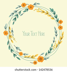Vector banner design with flowers and place for text