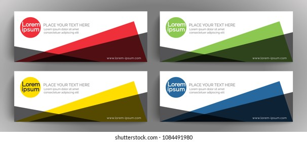 Vector banner design template, element for design business cards, invitations, gift cards, flyers brochures, online banner, cover page, background with white space for logo and text,Vector EPS10