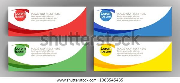 Vector Banner Design Template Element Online Stock Vector