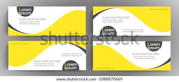 Vector Banner Design Template Element Design Stock Vector